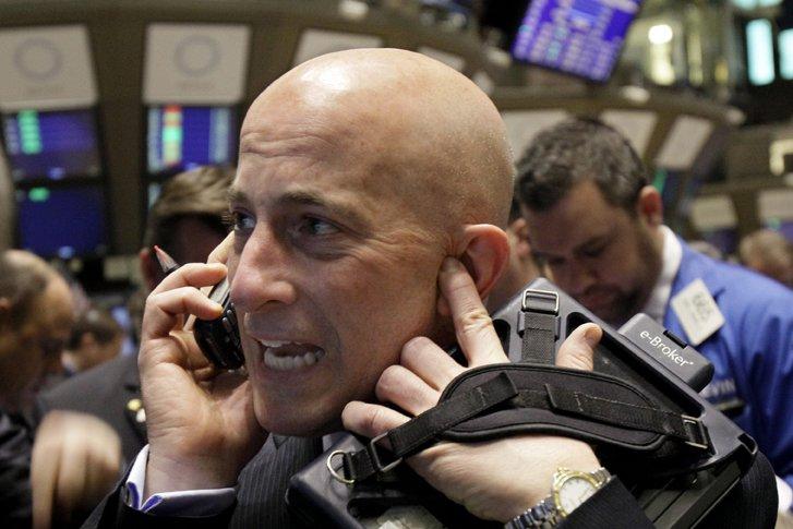 La Bourse de New York a terminé en nette baisse lundi, sapée par... (Photo AP)
