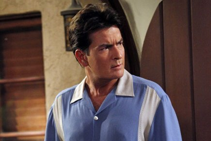 Charlie Sheen dans une scène de Two and... (Photo: AP)