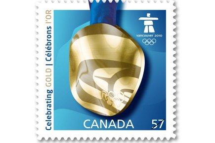 Un timbre canadien édité pour les Jeux de... (Photo PC)