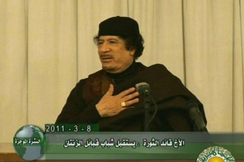 La télévision nationale a retransmis le discours du... (Photo: AFP)