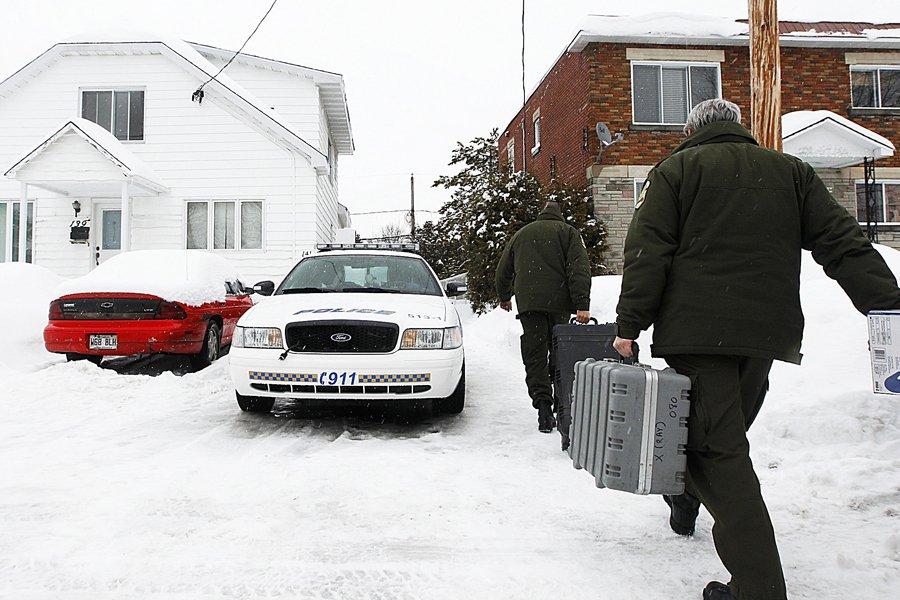 Les artificiers de la Sûreté du Québec ont... (Photo: Patrick Sanfaçon, La Presse)