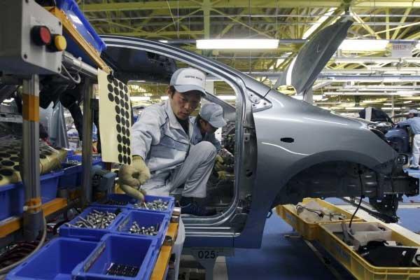 Toyota Motor a fermé deux usines d'assemblage, l'une... (Photo Associated Press)