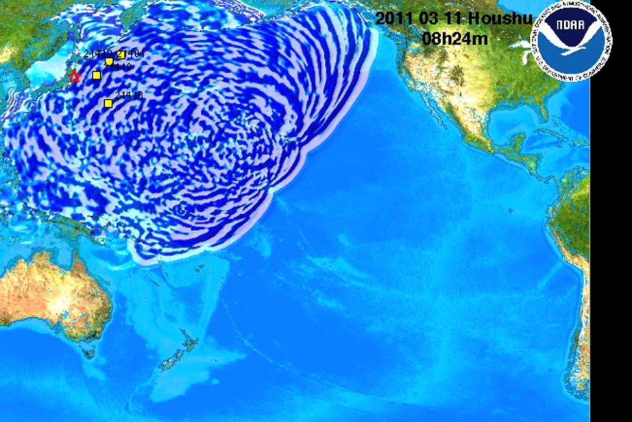 La carte produite par la NOAA présente la... (Image: NOAA)