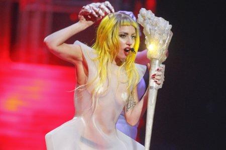Lady Gaga... (Photo: Martin Roy, Le Droit)