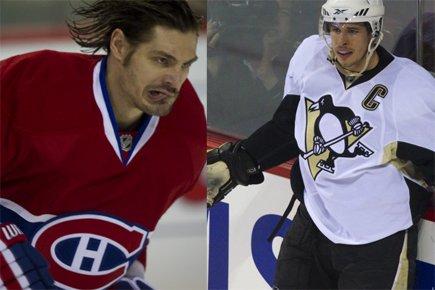Le défenseur du Canadien Brent Sopel et le... (Photos: André Pichette, La Presse)