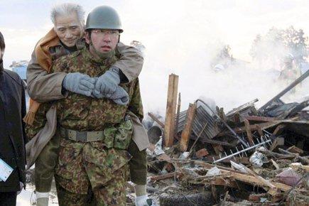 Les forces d'auto-défense japonaises ont été déployées sur... (Photo: Reuters)