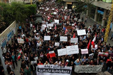 Près de 10 000 personnes, pour la plupart... (Photo: Anwar Amro, Archives AFP)