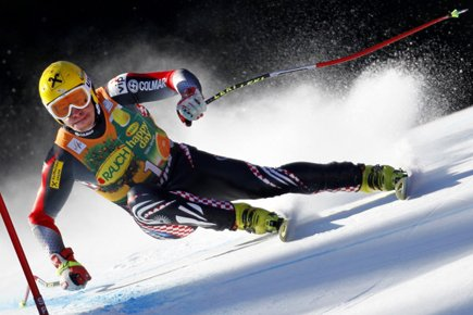 Le Croate Ivica  Kostelic.... (Photo: Daniel Sannum Lauten, AFP)