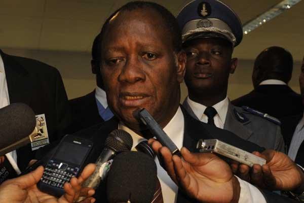 Le président ivoirien reconnu par la communauté internationale... (Photo AFP)