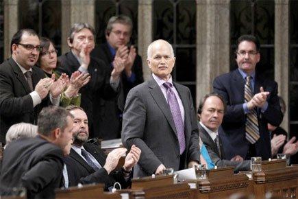 M. Layton semblait croire, dimanche, que les chances... (Photo: Reuters)