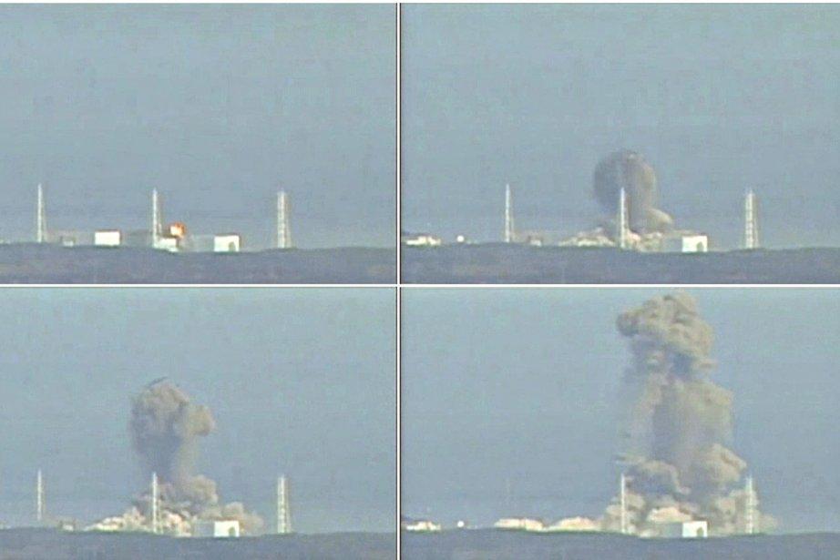 Combinaison de photos de l'explosion survenue à la... (Photos: Reuters)