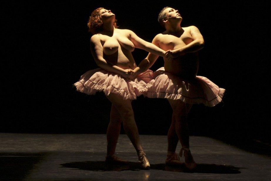 Émile Poirier et Pascal  Despois dansent aux... (Photo: Christine Rivard, fournie par Tangente)