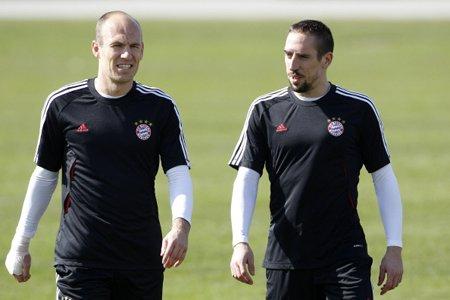 Arjen Robben et Frank Ribéry, les deux joueurs... (Photo: Reuters)