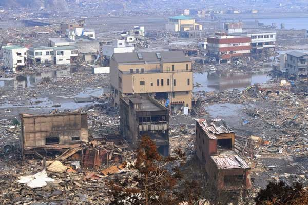 Dévastation dans la ville de Otsuchi.... (Photo Reuters)