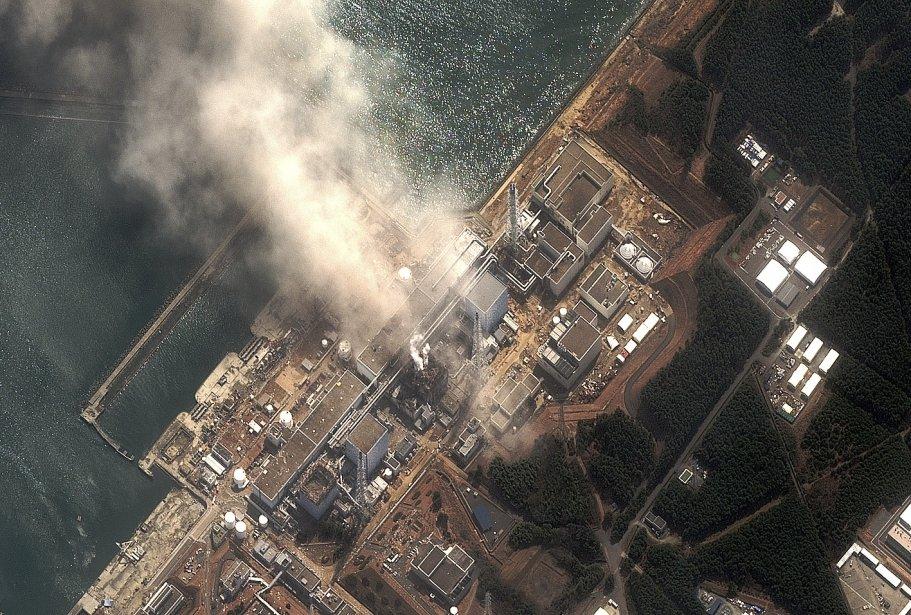 Les accidents à la centrale Fukushima (regroupant six... (PHOTO: DIGITALGLOBE, AFP)