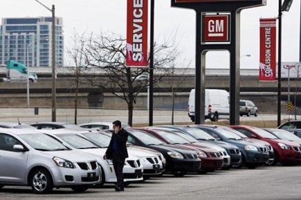En janvier, le nombre de véhicules automobiles neufs... (Photo: Nathan Denette, Archives PC)
