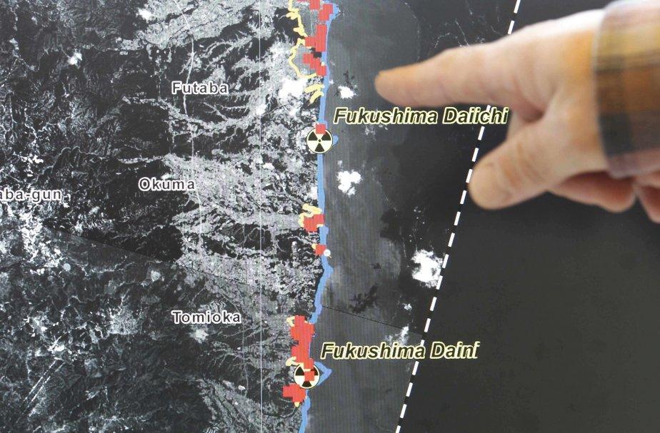 Une photo satellite de la centrale Fukushima Daiichi... (PHOTO: VINCENT KEASLER, REUTERS)