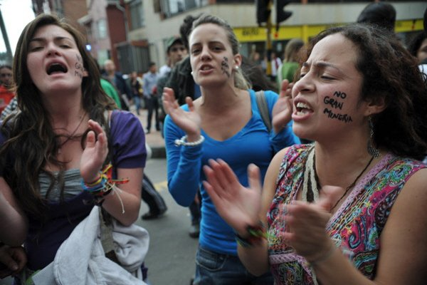 Le 25 février dernier, des écologistes manifestaient à... (Photo AFP)