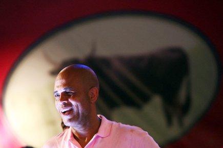 Selon un dernier sondage publié jeudi, Michel Martelly,... (Photo: Hector Retamal, AFP)