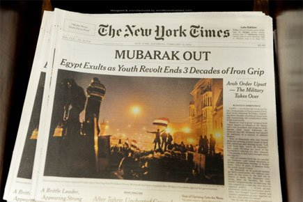 Un exemplaire du New York Times.... (Photo: AFP)