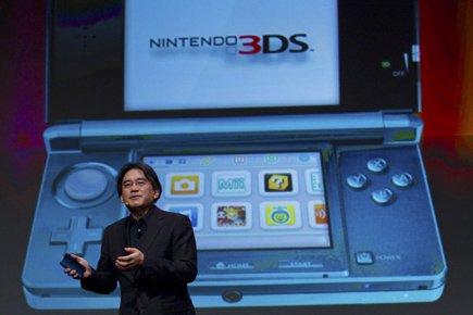 Le président de Nintendo Satoru Iwata.... (Photo: Kim White, AP)