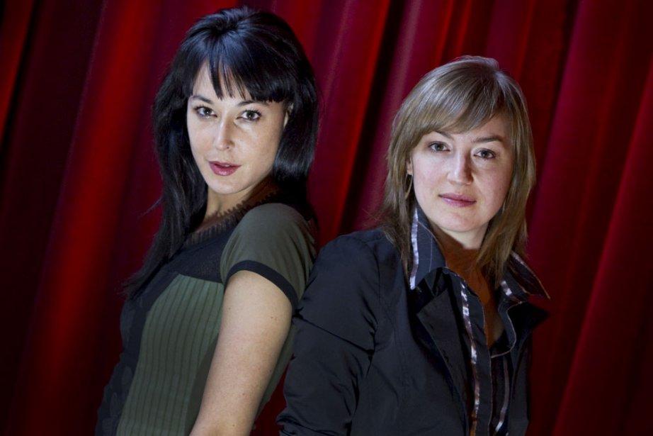 Claudia Larochelle et Elsa Pépin, directrices de l'ouvrage... (Photo: Ivanoh Demers, La Presse)
