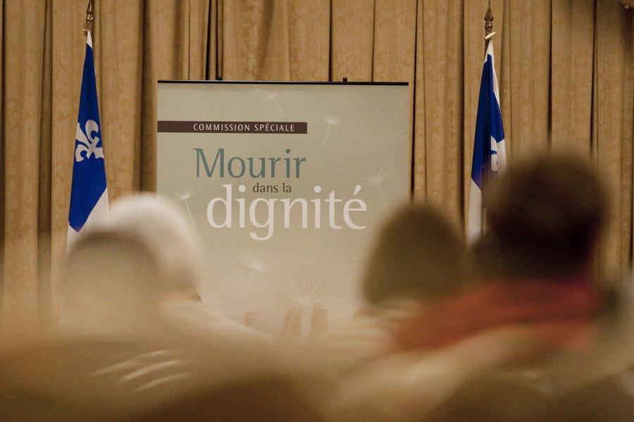 Les personnes opposées à la décriminalisation de l'euthanasie... (Photo: Ivanoh Demers, Archives La Presse)