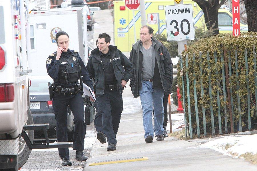 Le suspect, qui n'est pas connu des policiers,... (Photo: Patrick Sanfaçon, La Presse)