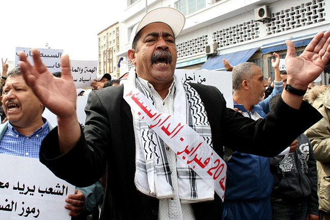 Les manifestants au Maroc ont aussi appelé à... (Photo: AFP)