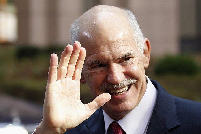 Le premier ministre grec Georges Papandreou.... (Photo: archives Reuters)