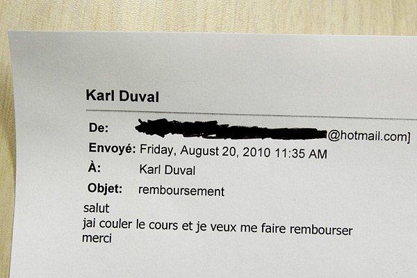 Ce courriel a été envoyé à l'École Duval... (Photo: Alain Roberge, La Presse)