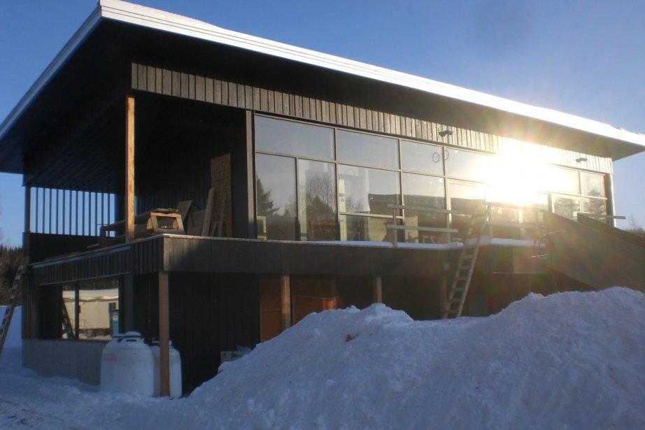 Station Blü, dernier-né des bains nordiques au QUébec,... (Photo: Nicolas Sylvain, collaboration spéciale)