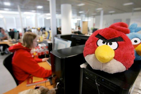 Un Angry Birds dans les bureaux de Rovio... (Photo: AFP)