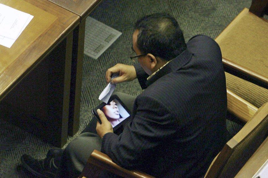 Arifinto, membre du Parti pour la justice et... (Photo: AP)