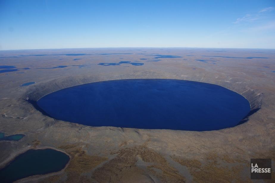 Sur la photo, le cratère d'une météorite dans... (Marie Tison, la Presse)