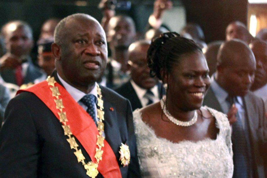 Le couple Gbagbo, en décembre 2010.... (Photo: archives AFP)