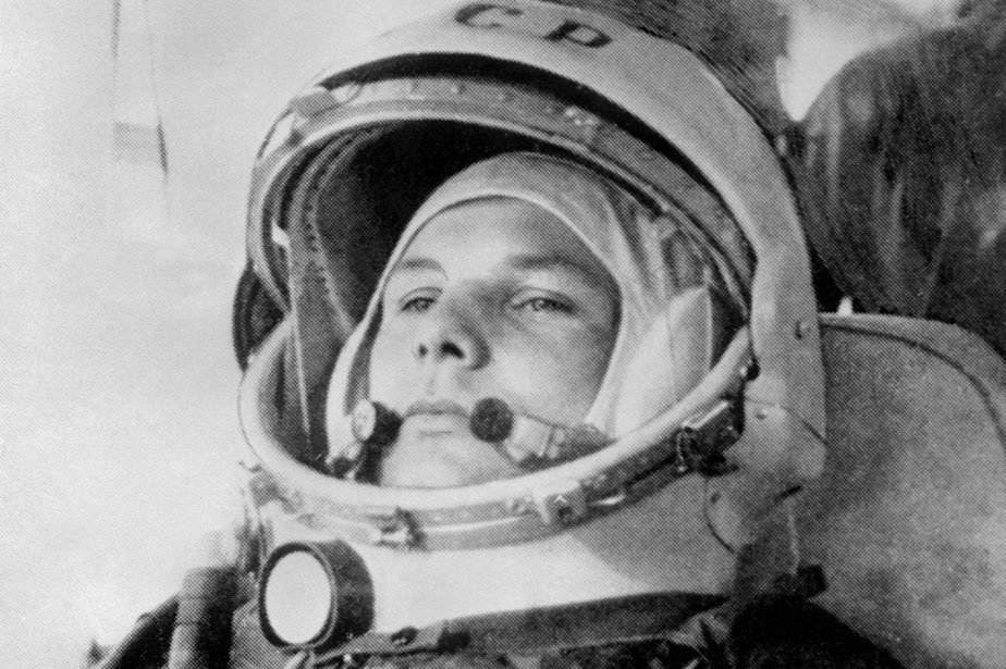 Le 12 avril 1961, le cosmonaute Youri Gagarine... (Photo: archives AFP)