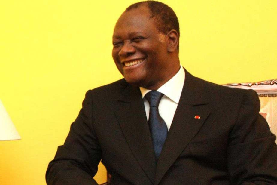Le nouveau président de la Côte d'Ivoire Alassane... (Photo AFP)