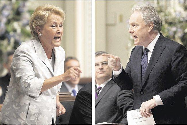 Pauline Marois, chef du Parti québécois, et Jean... (Photo: PC/PC)