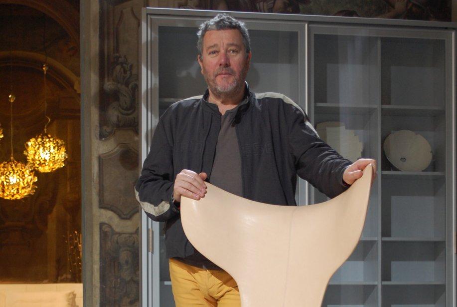 Philippe Starck lors de son passage chez Driade,... (Photo: Lucie Lavigne, La Presse)