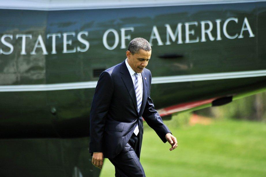 Le président Obama s'est acquitté de cette formalité... (Photo: Jewel Samad, AFP)
