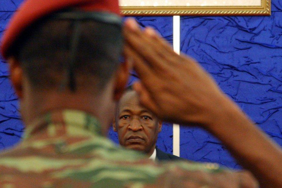 Le président du Burkina Faso, Blaise Compaoré, lors... (Photo: AFP)