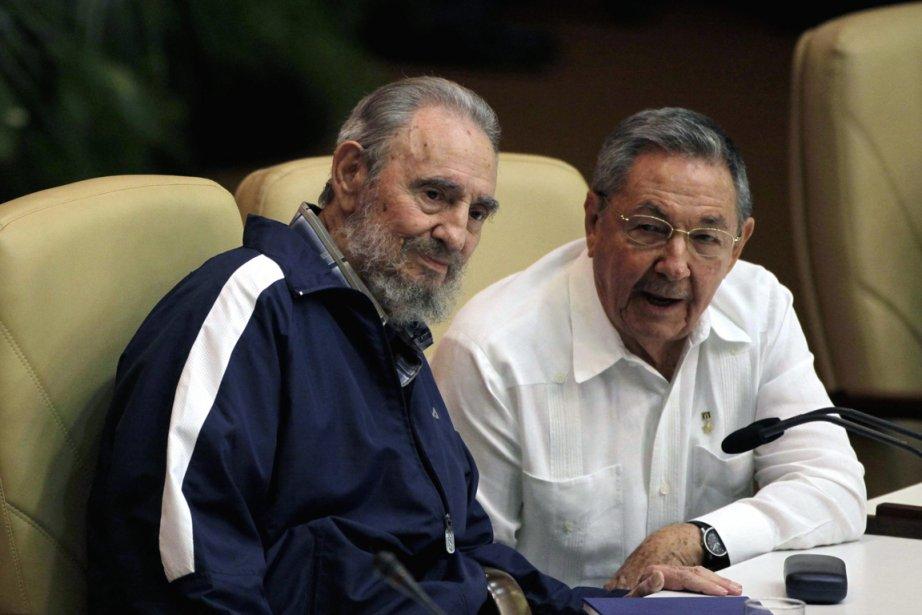 Fidel Castro n'avait pas été vu en public... (Photo: AFP)