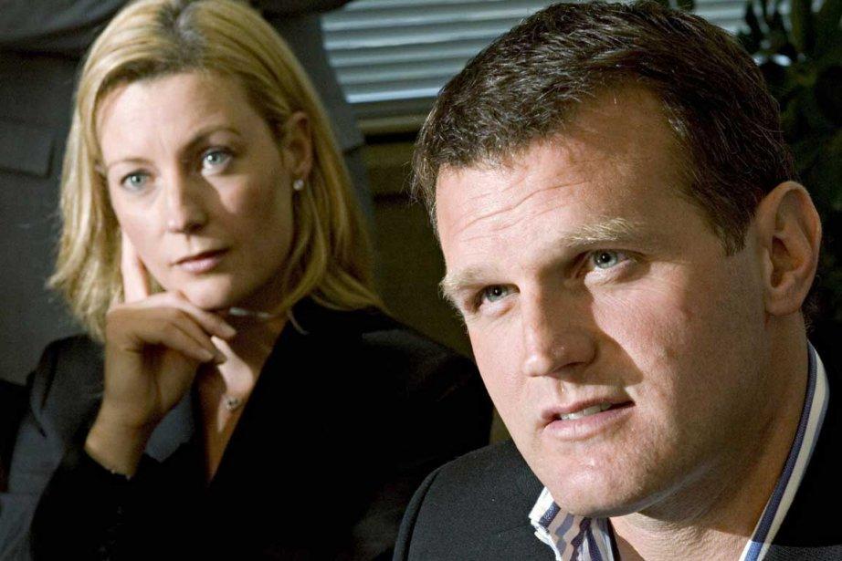 Vincent Damphousse et son ex-conjointe Allana Henderson en... (Photo PC)