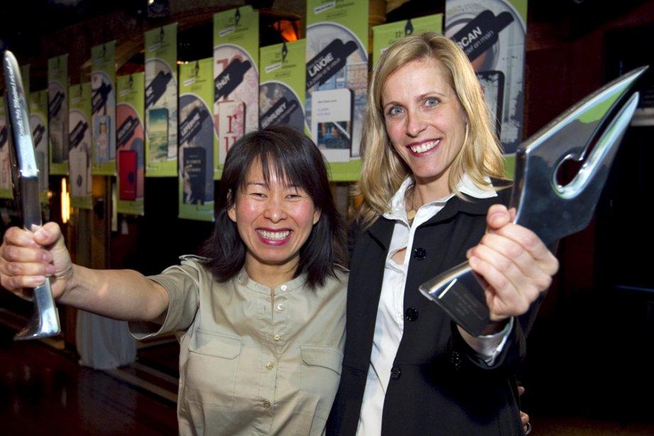 Kim Thuy et Marie-Renée Lavoie ont remporté, ... (Photo: Alain Roberge, La Presse)