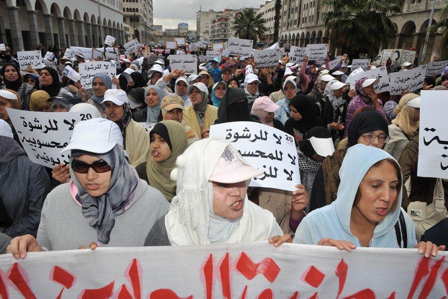 «Nous voulons plus d'égalité et moins de corruption»,... (Photo: AFP)
