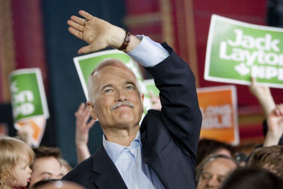 Jack Layton a participé à un rassemblement politique... (Photo: Marco Campanozzi, La Presse)