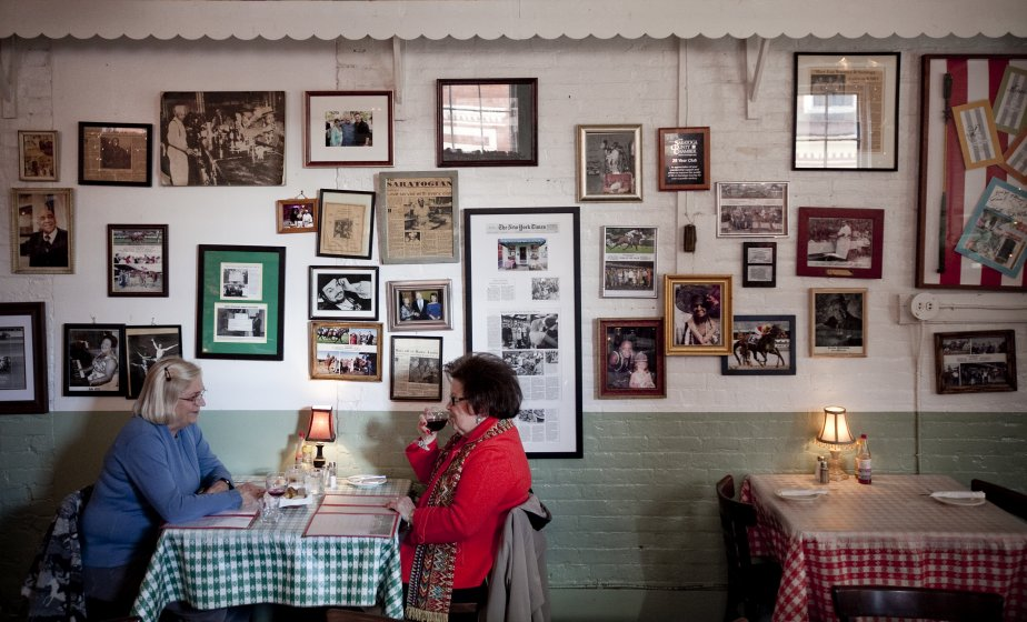 Dîner chez Hatties à Saratoga Springs. (Marco Campanozzi, La Presse)