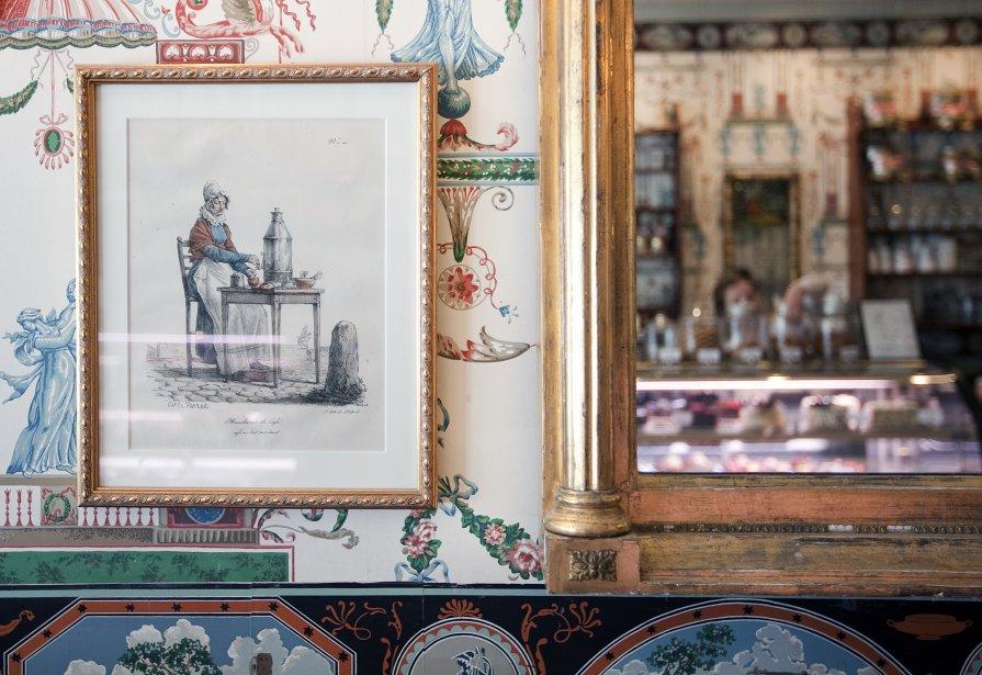 Pâtisserie et café au lait chez Mrs. London's: Bakery and Café à Saratoga Springs. (Marco Campanozzi, La Presse)