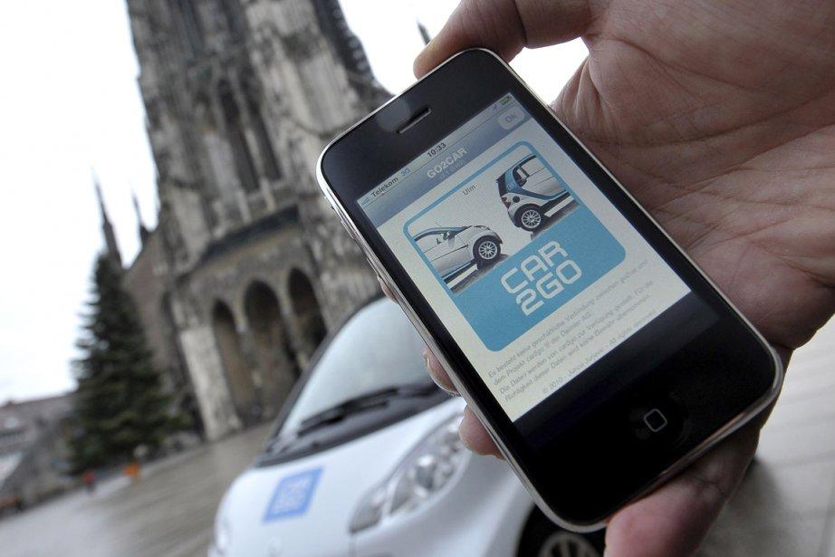 Des géants comme Daimler AG offrent l'auto en... (Photo: Bloomberg)